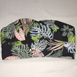 Never worn tropical floral crop top size S.